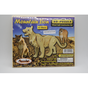 3D Mountain Lion Puzzle